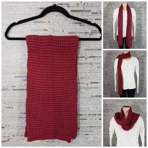 4/$35 Xhilaration Knitted Brick Red Scarf